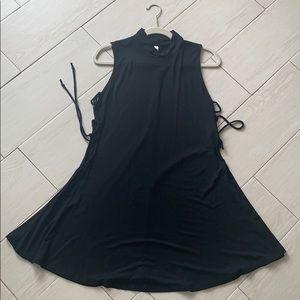Wishlist black tie up swing dress